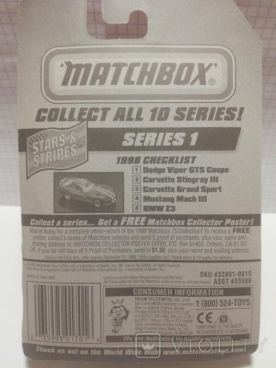 Matchbox Dodge Viper GTS 1/59 1998 Thailand, фото №3