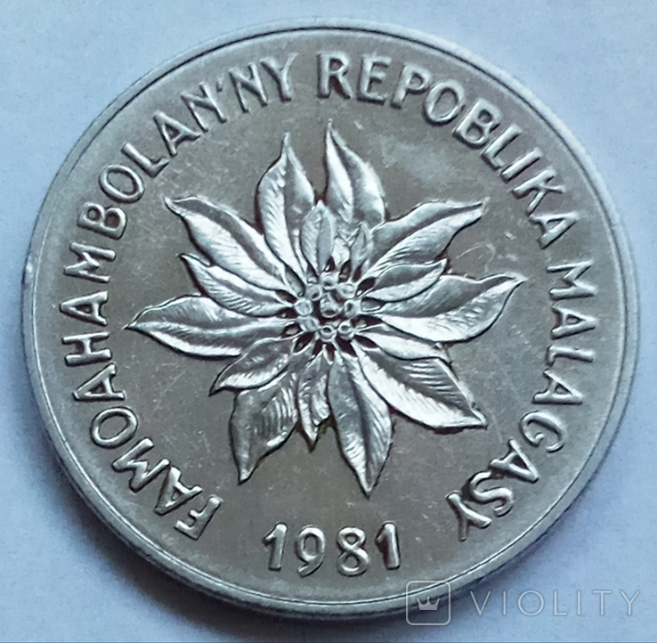 5 франков 1981 г. Мадагаскар, фото №3