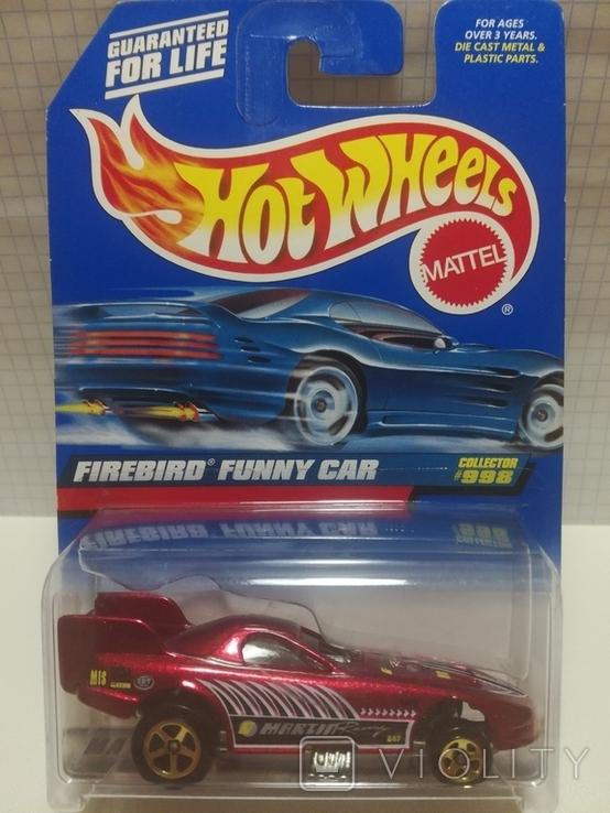 Hot Wheels Firebird Funny Car (підніматься кузов відносно дна) 1999 Malaysia, фото №2