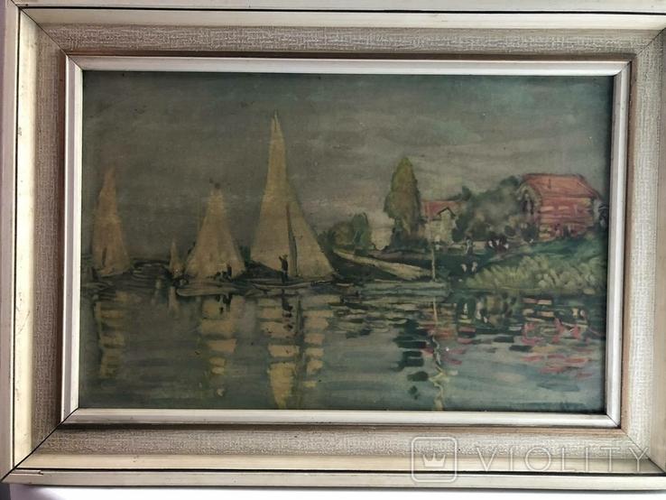 Репродукция картини Клода Моне CLAUDE MONET 1840-1926 Regatta in argenteuil, фото №2