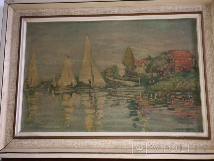 Репродукция картини Клода Моне CLAUDE MONET 1840-1926 Regatta in argenteuil, фото №3