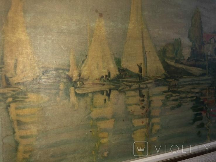 Репродукция картини Клода Моне CLAUDE MONET 1840-1926 Regatta in argenteuil, фото №4
