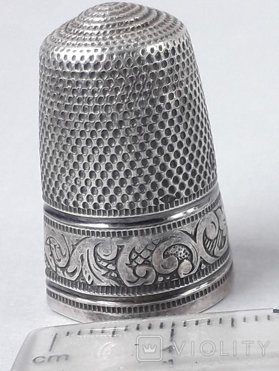 Напёрсток, наперсток, серебро, 3.8 грамма, Франция, фото №2