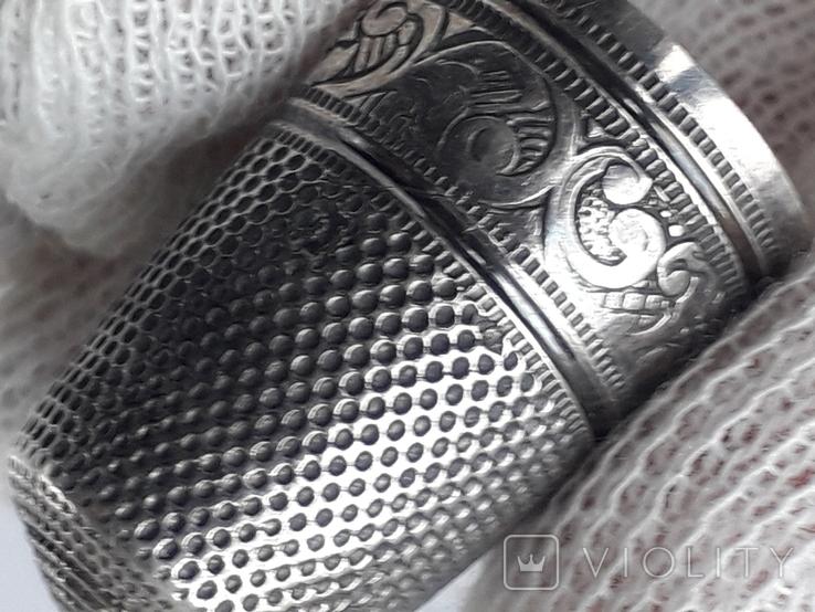 Напёрсток, наперсток, серебро, 3.8 грамма, Франция, фото №10