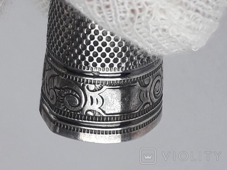 Напёрсток, наперсток, серебро, 3.8 грамма, Франция, фото №12