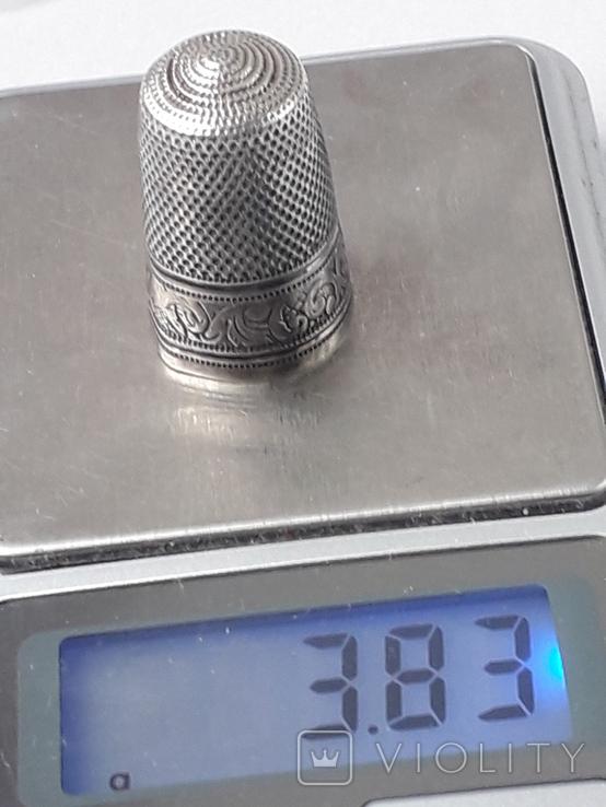 Напёрсток, наперсток, серебро, 3.8 грамма, Франция, фото №13