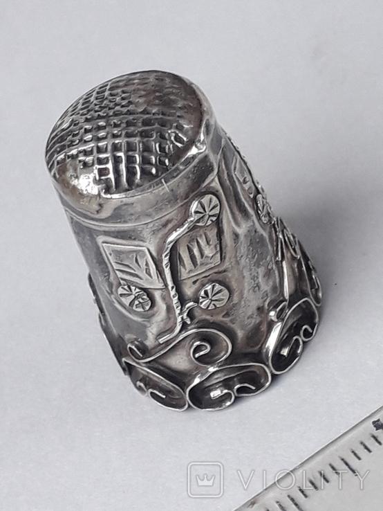 Напёрсток, наперсток, серебро, 2.25 грамма, Западная Европа или Латинская Америка, фото №6