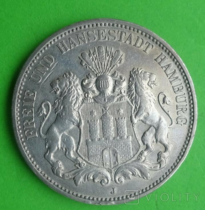 3 марки, Гамбург, 1910г, фото №3