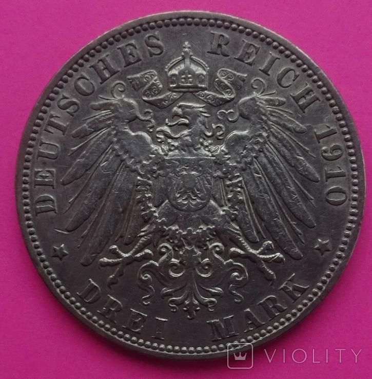 3 марки, Гамбург, 1910г, фото №4