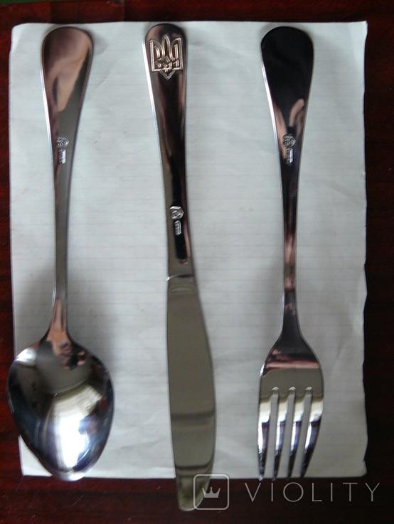 Столовый прибор : Ложка + Вилка + Нож с Тризубом, фото №5