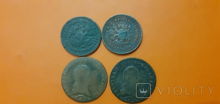 1 крейцер 1851 ,1812  4штуки, фото №3