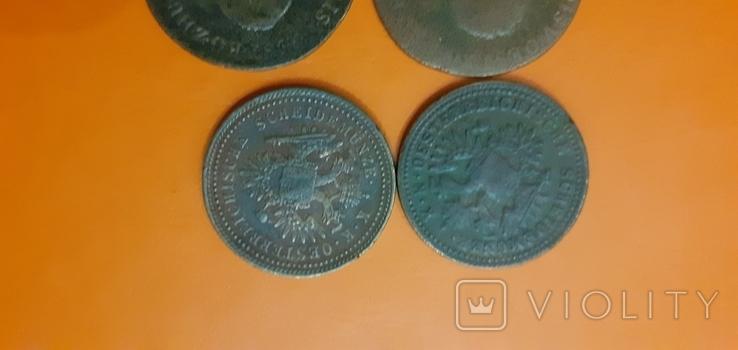 1 крейцер 1851 ,1812  4штуки, фото №4