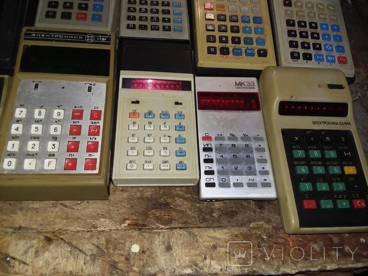 Калькуляторы времен СССР, 13шт в лоте, все разные, фото №7