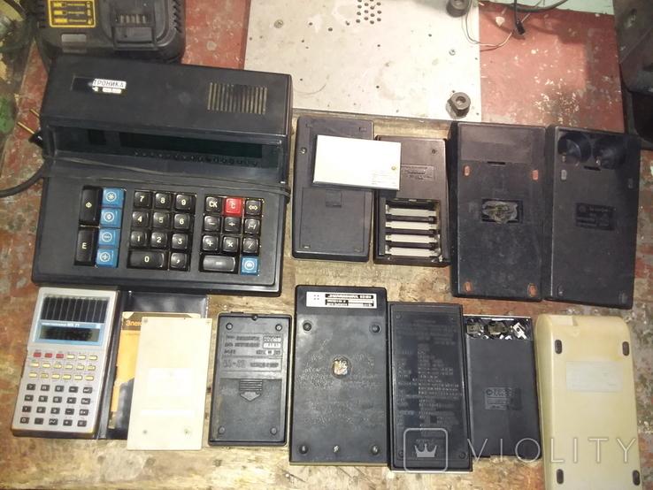 Калькуляторы времен СССР, 13шт в лоте, все разные, фото №8