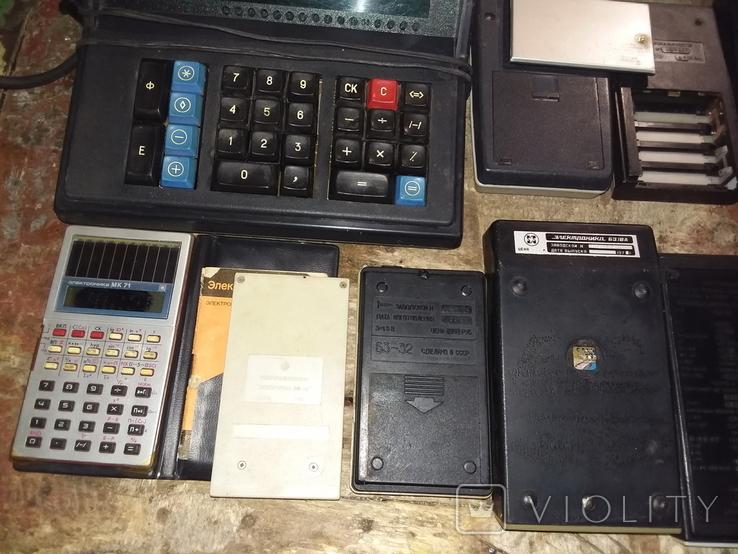 Калькуляторы времен СССР, 13шт в лоте, все разные, фото №9
