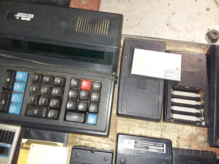 Калькуляторы времен СССР, 13шт в лоте, все разные, фото №12