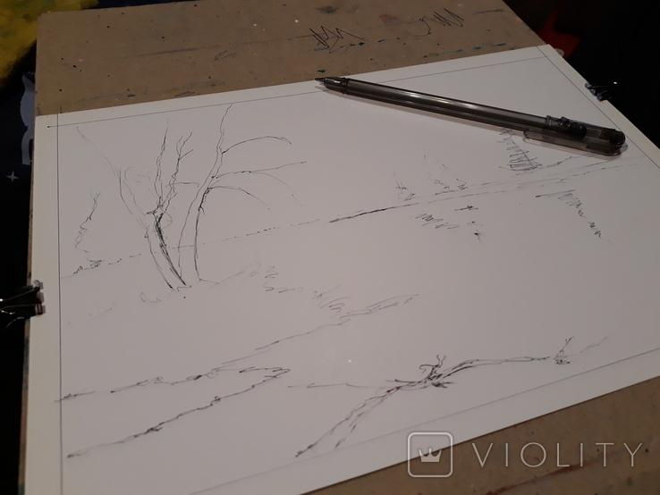 Акриловый закат, фото №4