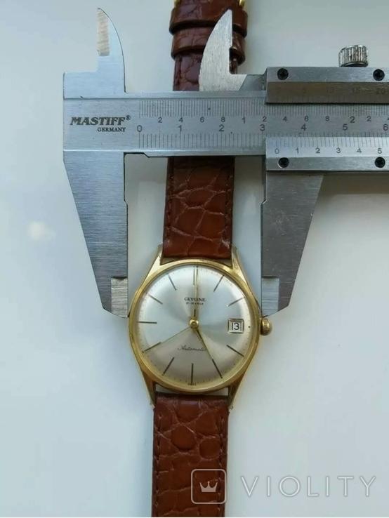 """Годинник швейцарський """"Glycine"""" 60-х років позолота 20мкм, фото №3"""