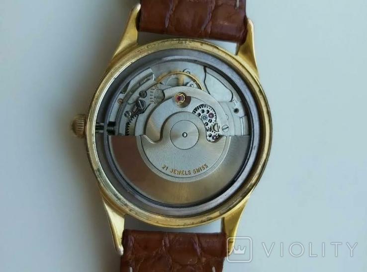 """Годинник швейцарський """"Glycine"""" 60-х років позолота 20мкм, фото №4"""