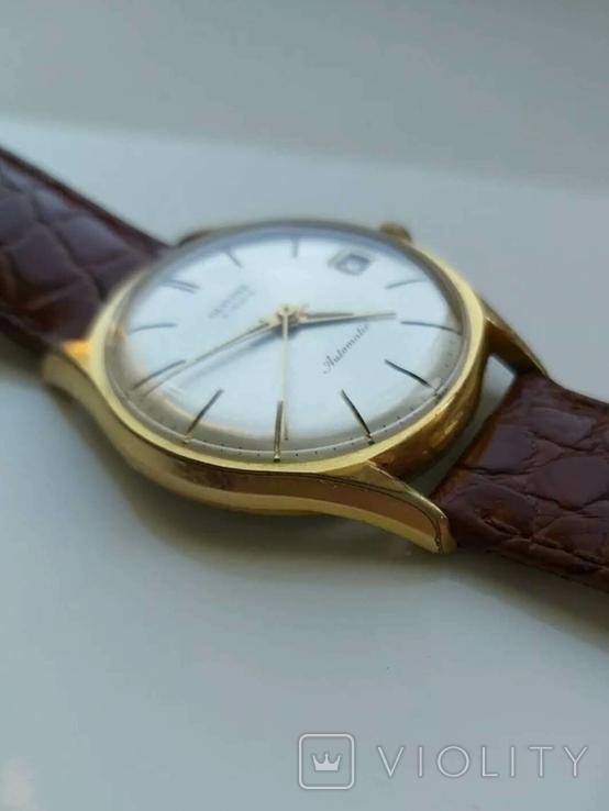 """Годинник швейцарський """"Glycine"""" 60-х років позолота 20мкм, фото №8"""