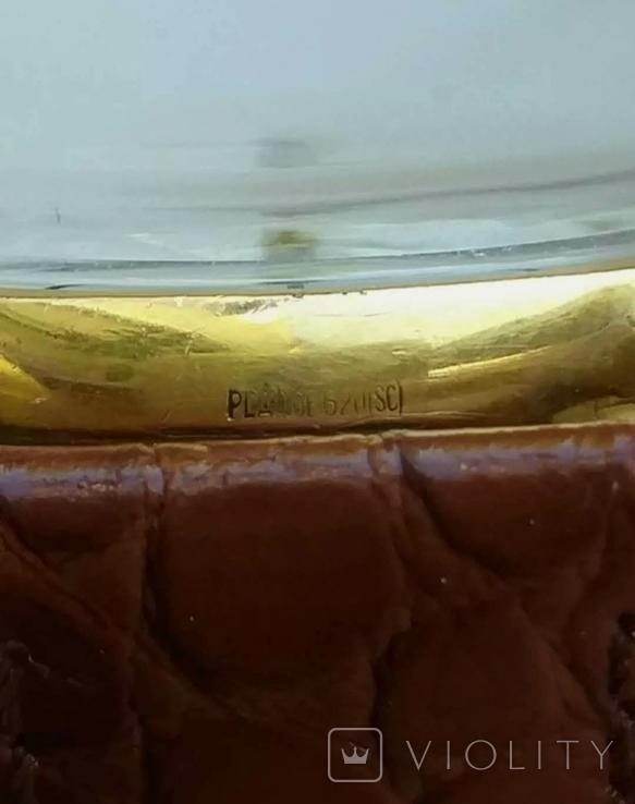 """Годинник швейцарський """"Glycine"""" 60-х років позолота 20мкм, фото №12"""