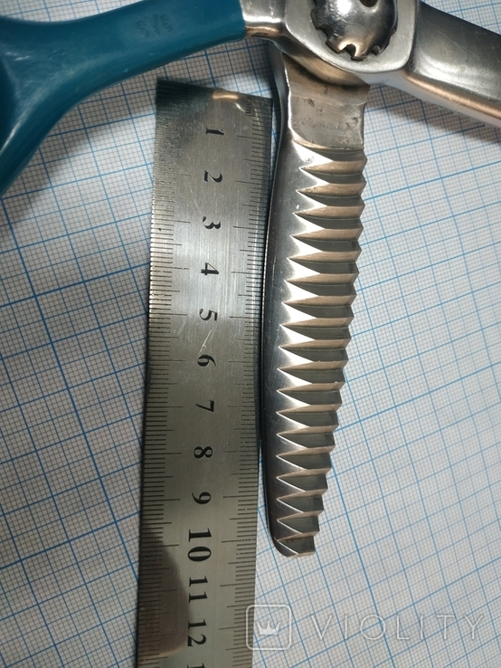 Кравецькі зубчасті ножиці (зигзаг)  часів СРСР., фото №12