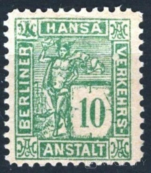 Гг026 Германские города. Берлин 1886 №D3