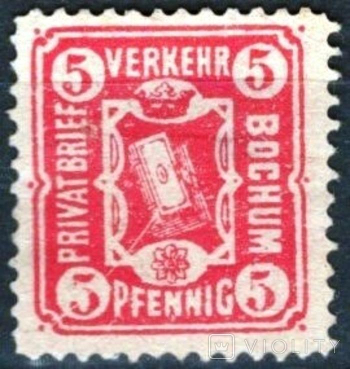 Гг034 Германские города. Бохум 1887 №А14
