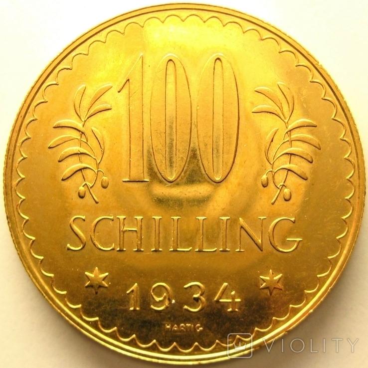 Австрия 100 шиллингов 1934 г.