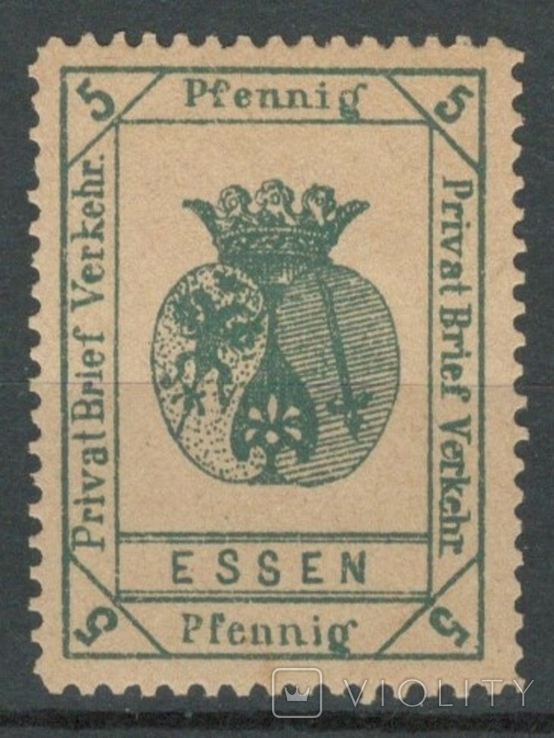 Гг059 Германские города. Эссен 1888 №А16