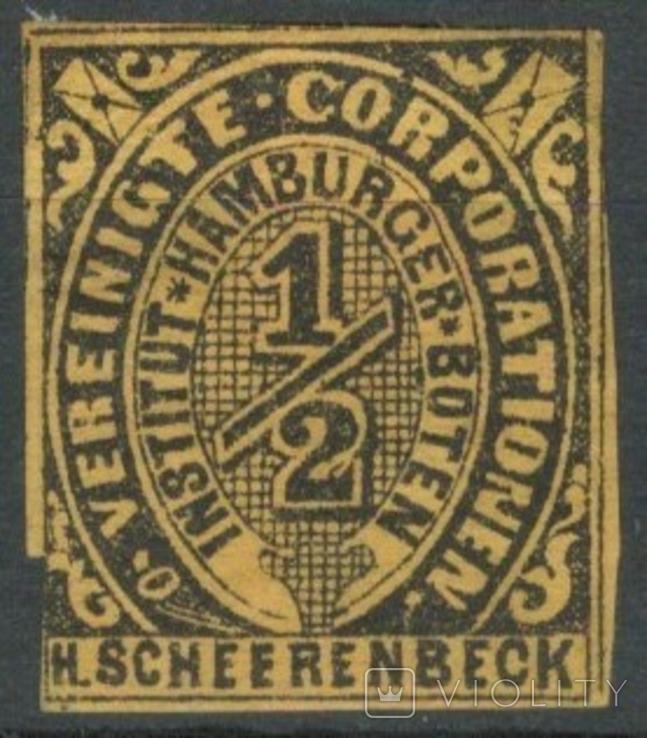 Гг067 Германские города. Гамбург 1862 №А4 III