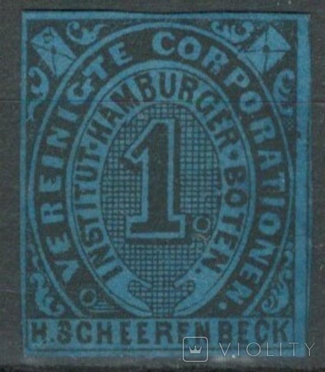 Гг072 Германские города. Гамбург 1862 №А5 VI