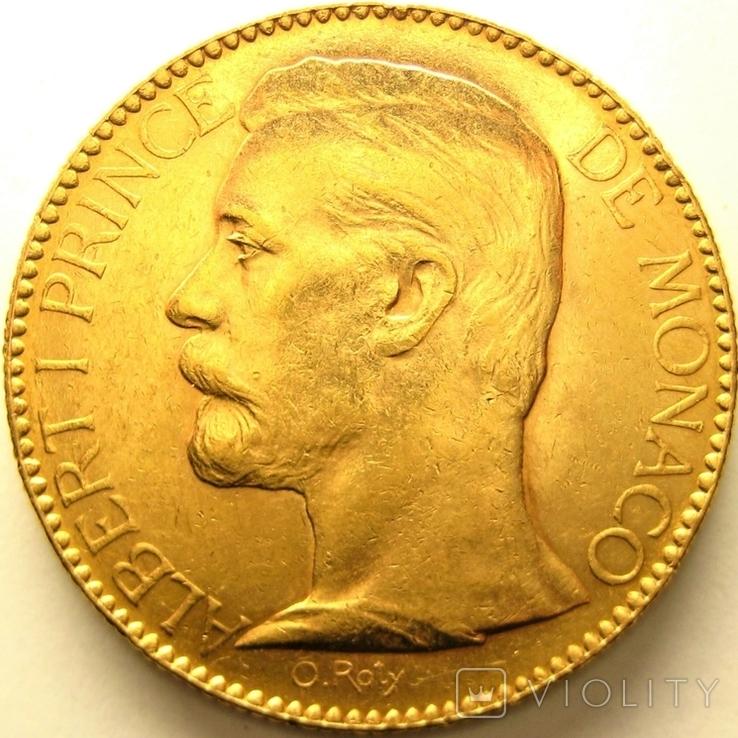 Монако 100 франков 1891 г., фото №2