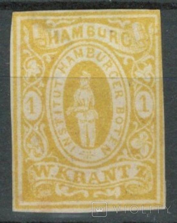 Гг074 Германские города. Гамбург 1863 №А7 I