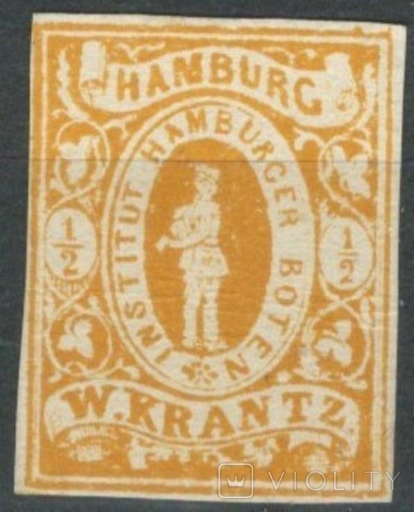 Гг075 Германские города. Гамбург 1863 №А6 II