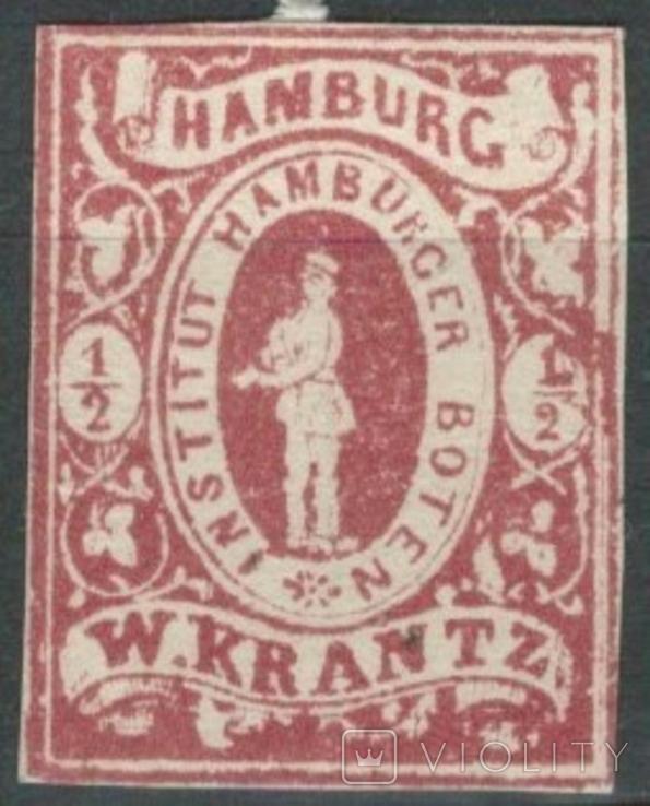 Гг076 Германские города. Гамбург 1863 №А6 III