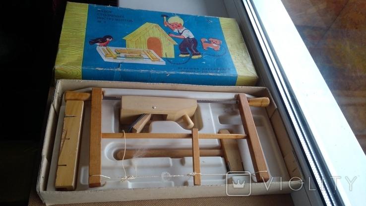 Набор игрушечных инструментов ПО Мир Минск СССР, фото №2