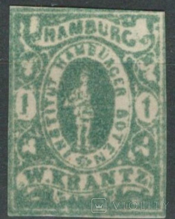 Гг082 Германские города. Гамбург 1863 №А7 VIII