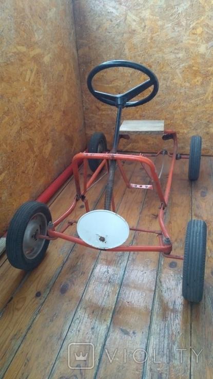 Педальная машинка под ремонт или на запчасти, фото №2
