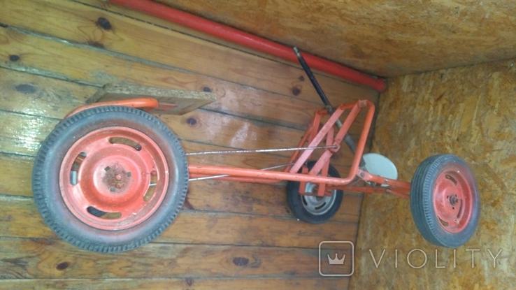 Педальная машинка под ремонт или на запчасти, фото №3