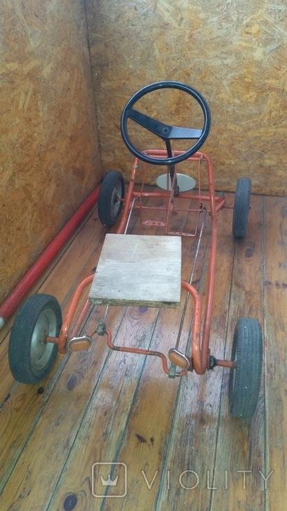 Педальная машинка под ремонт или на запчасти, фото №4
