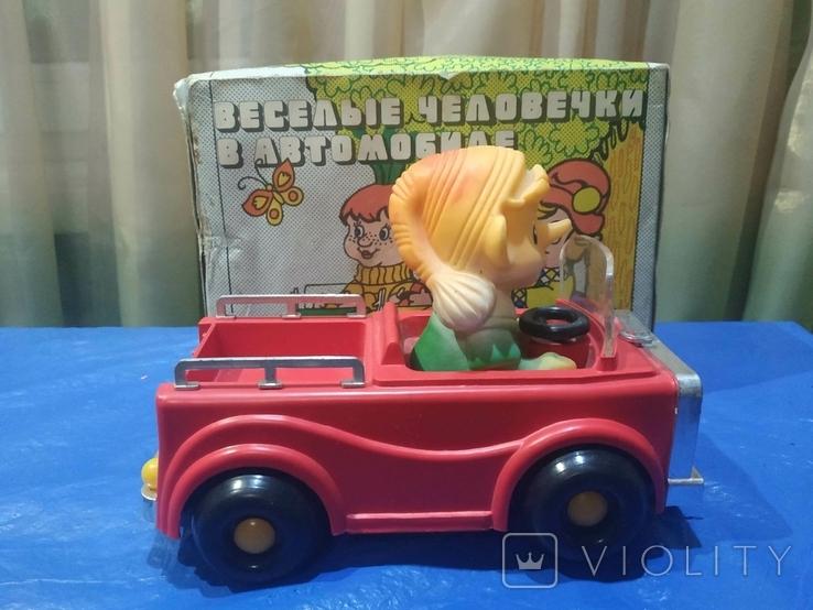 Электромеханическая машинка Буратино в автомобиле СССР в родной коробке, фото №3