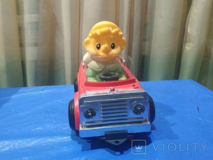 Электромеханическая машинка Буратино в автомобиле СССР в родной коробке, фото №4