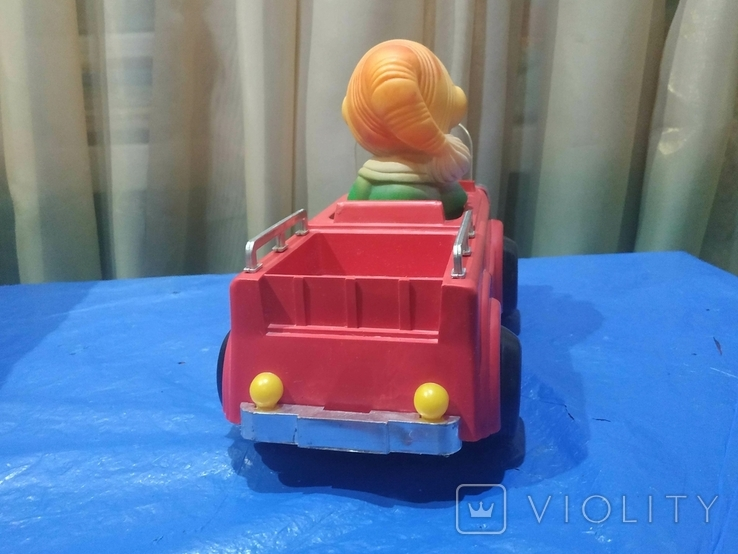Электромеханическая машинка Буратино в автомобиле СССР в родной коробке, фото №5