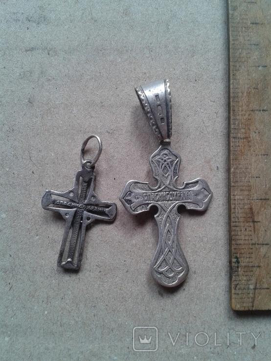 Два крестика серебро, 6,4 грамма, фото №6