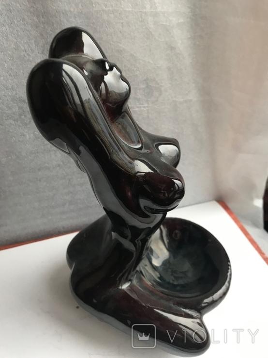 пепельница в виде обнаженой женщині керамика, фото №3