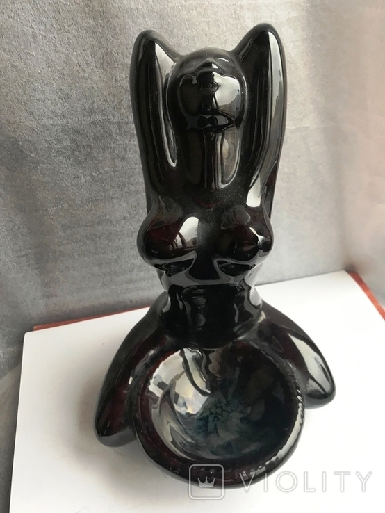 пепельница в виде обнаженой женщині керамика, фото №2