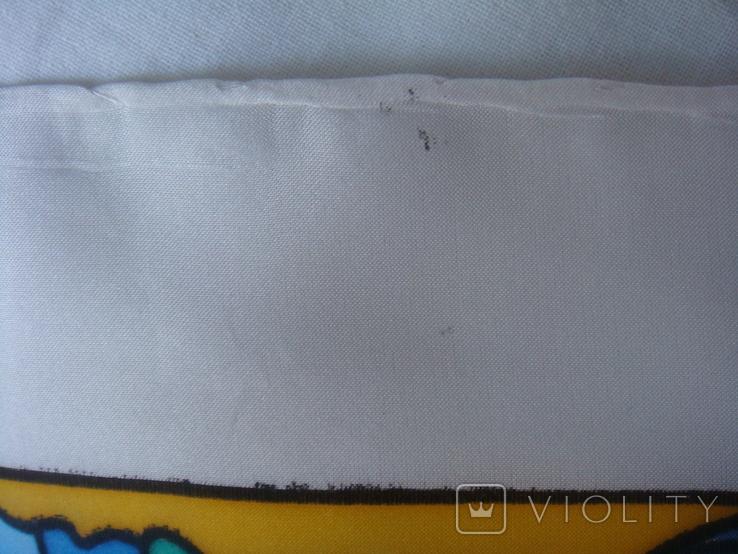 Платок дизайнерский подписной Бабочки, натуральный шелк, фото №8