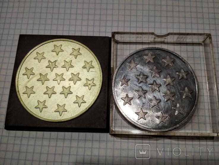 Настольная медаль Ветеран 38 Армии 2 разные, фото №3