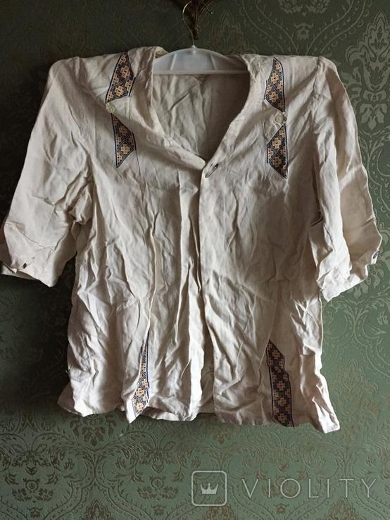 Жакет вышивка лен, фото №2
